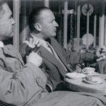 Jan Pruszyński (po lewej) i Antoni Chrościcki, Paryż, 1956 r.